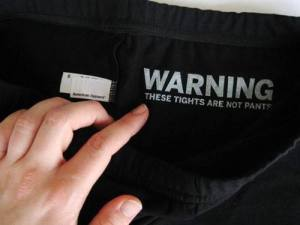 legging warning