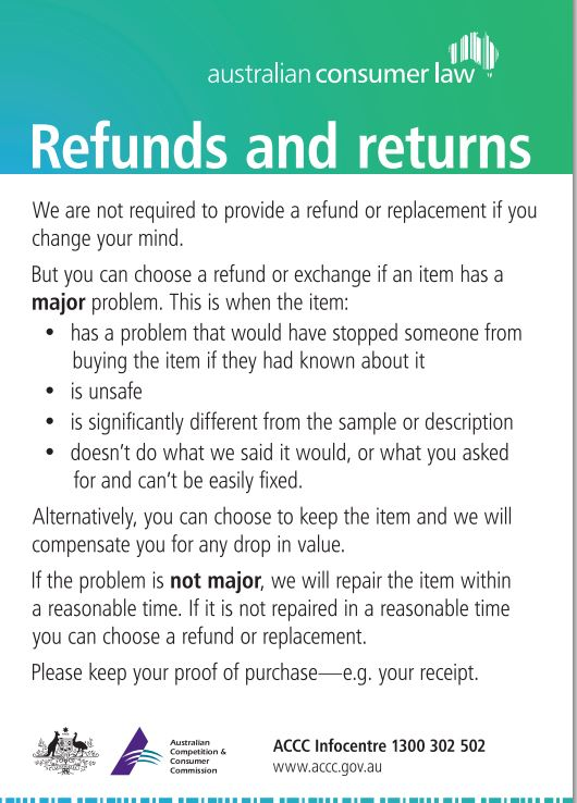 "The ""Return and Refund Policy"" Generator will create a custom policy for your ecommerce store. Download the Return & Refund Policy Template as a PDF file or Download the Return & Refund Policy Template as a DOCX file."