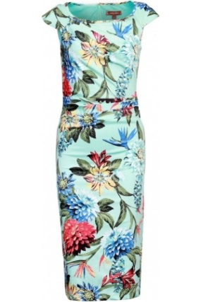 Women-Floral-Print-Ruched-Dress